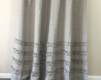 grey linen shower curtain. Dark Linen Shower Curtains with 4 rows of ruffles  100 72x72 Chambray Grey Curtain Mildew Free
