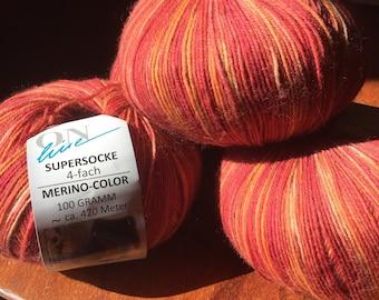 CLEARANCE Yarn OnLine Supersocke Merino Color 100g/420m