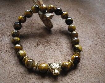 Tiger eye stone beaded bracelet