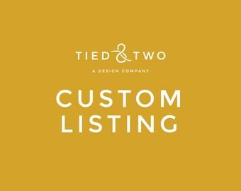 Custom Listing for Emarie