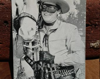 Vintage The Lone Ranger Souvenir Card
