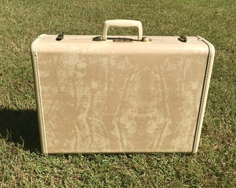 Large White Samsonite Suitcase/Vintage Streamlite Suitcase/Vintage Samsonite Suitcase/Samsonite Shwayder Vintage Luggage