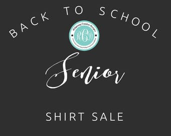Senior Shirt Sale - Ladies Fitted