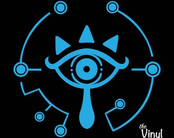 Sheikah Slate Eye Symbol Vinyl Sticker Inspired by Breath of the Wild and the Legend of Zelda Series
