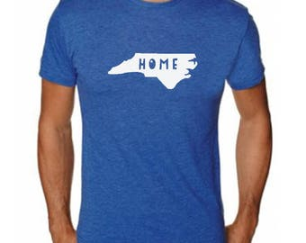 Screen Printed Men's T-Shirt - North Carolina - Home - Comfortable ~ State Shirt ~ USA - Royal Blue