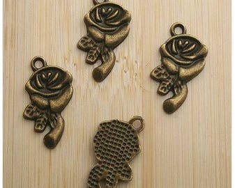 bronze colour Tibetan silver charm pendant
