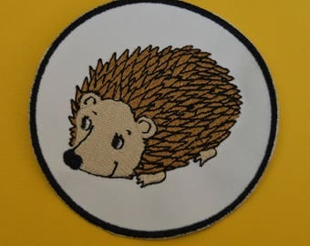 hedgehog embroidered patch