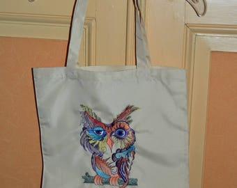 beige OWL shoulder bag