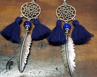 Dreamcatcher Leaf Earrings