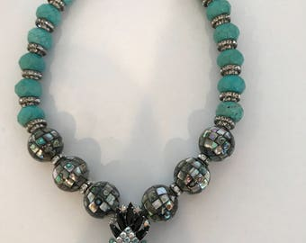 Abalone and Turquoise Necklace