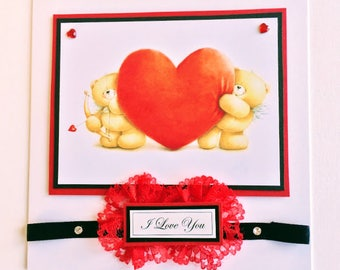 Handmade Valentine's Day Card - Cupid's Heart