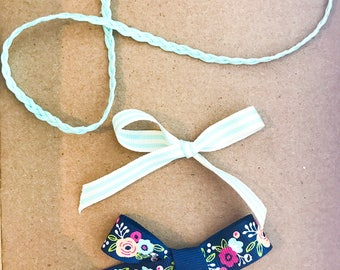 Mint Headband & Bow Set
