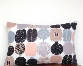 Gift for Gardener. Fruit and Vegetable Print. Scandinavian Cushion. Marimekko Fabric. Gift for Green Thumb. Gift for Her. Gift for Him.