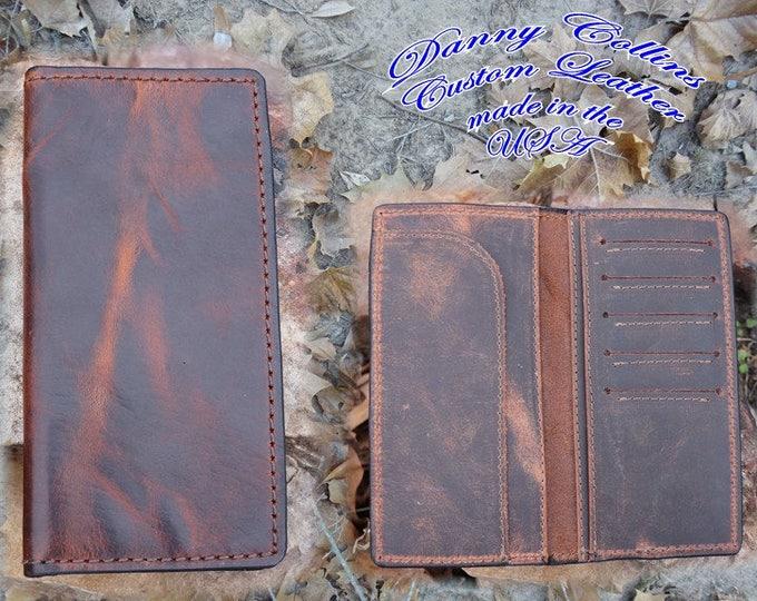 Bison Checkbook Wallet, Bison Roper wallet, Bison Long Wallet, Leather Wallet, Mens Wallet