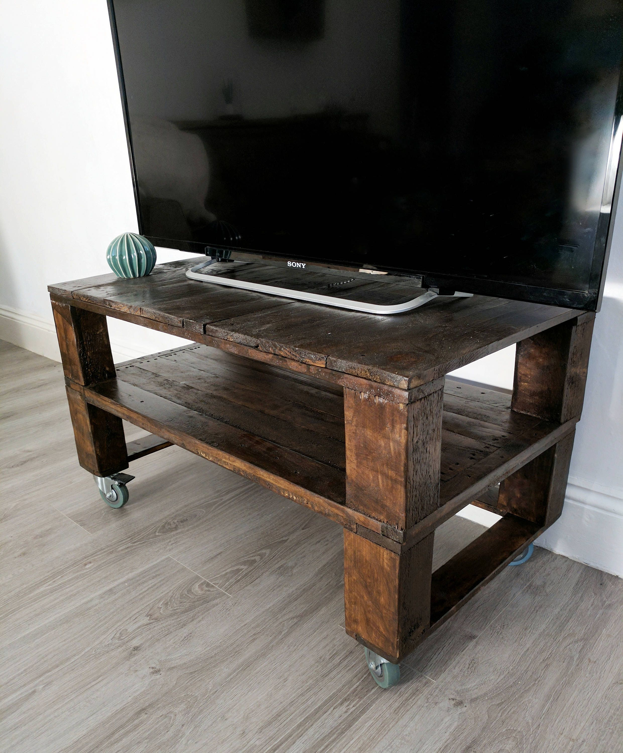Reclaimed Timber Tv Stand Media Console TALL TELE ALUS in