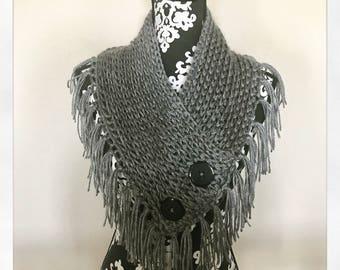 Crochet bandana cowl pattern