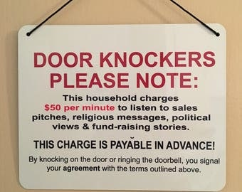 DOOR KNOCKERS Sign
