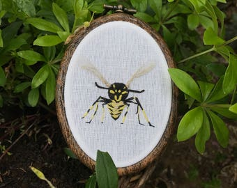 Embroidery hoop, wasp