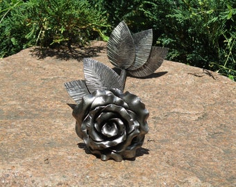 first wedding anniversary gift, 5th anniversary gift, metal rose, blacksmith rose, anniversary gift for wife, personalized anniversary gifts