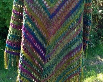 "Hand-crochet Shawl ""Meadow"""