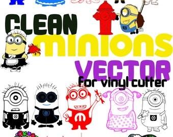 100 Minion Vector Clipart