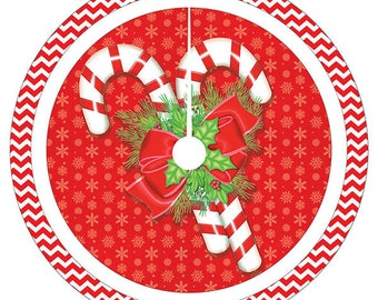 Candy Cane Christmas Tree Skirt