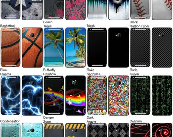 Choose Any 2 Designs - Vinyl Skins / Decals / Stickers for HTC One - Android Smartphone