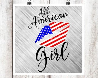 All American Girl Lips SVG/DXF/EPS File