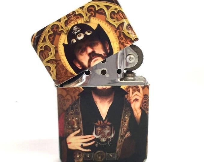 Lighter, Lemmy, Motörhead, Sublimated Lighter, Retro lighter, Cigar, Flip Lighter, Gift for Him, Groomsmen, Bachelors, Fathers Day