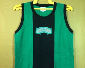 Vintage Benetton Formula 1 Sleeveless Shirt Adult Medium Size Made In Japan