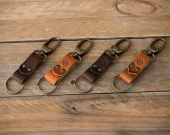 Leather Keychain, Leather Keyring, Horween Leather, Leather Key Sling, Leather Key Fob, Handmade, Leather Accessories