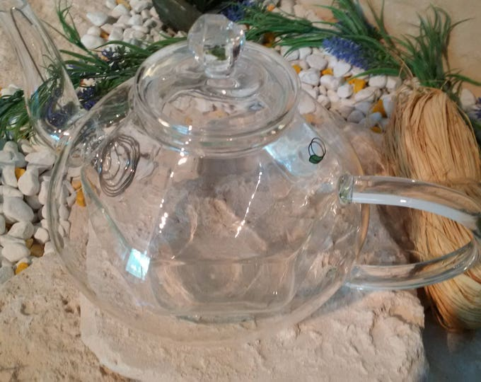 Double-walled glass - teapot 800 ml of borosilicate glass