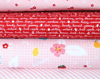 Sweet Orchard 4 Fat Quarter Fabric Bundle by Riley Blake Designs. Perfect for patchwork and quilting