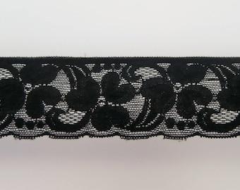 Floral Black Lace, elastic. (ref 946 22 97)