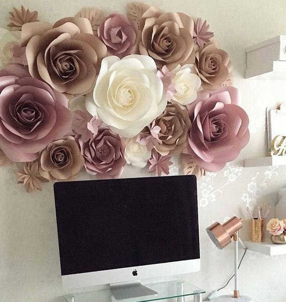 Paper Flowers Wall Decoration Large Paper Flowers Paper