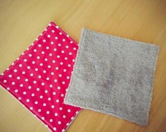 2 wash cloths in cotton dry all zero waste
