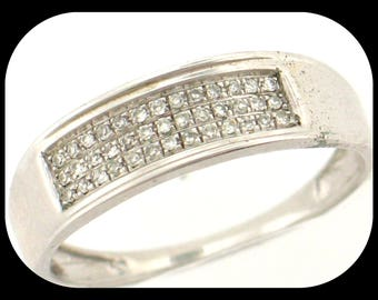 New 39 Diamond (0.15 CTW) Anniversary Band RING 925 Sterling Silver