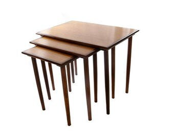 Norwegian teak nest of tables