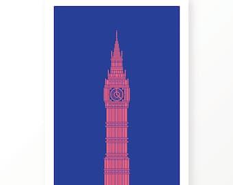 Unique wall art, Big Ben, Houses of Parliament, London