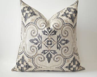 Beige Stamp Pillow Cover
