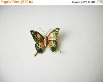 ON SALE Vintage Colorful Enameled Butterfly Pin 5817