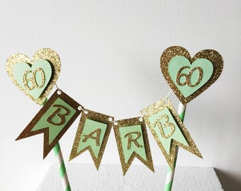 Name Cake Topper, Customised Cake Banner, Bunting Birthday, Birthday Cake Decorations, Personalised, Glitter Cake Topper, Special Occasion