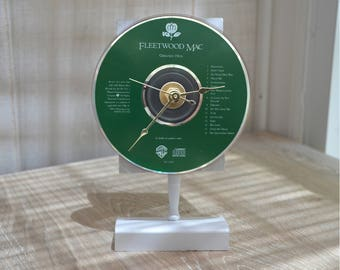 "CD Clock: FLEETWOOD MAC ""Greatest Hits""  Desk or Wall Clock"