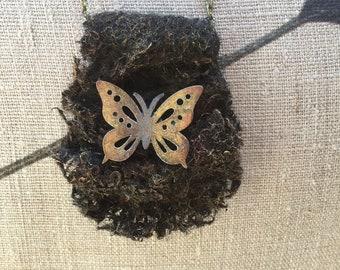 Steampunk/Boho/Goth Syle Powertex Butterfly Pendant