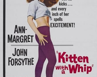 Summer Sale Kitten with a Whip Movie POSTER (1964) Thriller