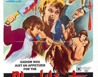 Back to School Sale: Bloodthirsty Butchers Movie POSTER (1970) Horror