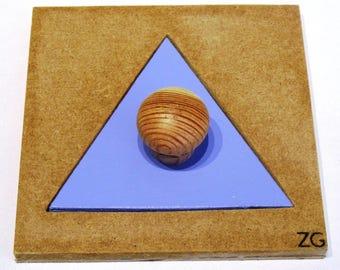 Puzzle / wall, (Montessori) triangle shape