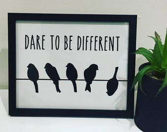 Dare To Be Different - Framed Print