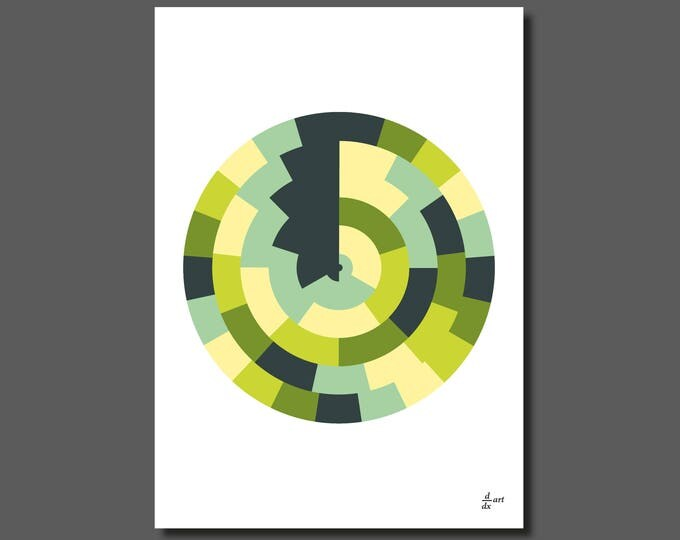 Circles divided 02 [mathematical abstract art print, unframed] A4/A3 sizes