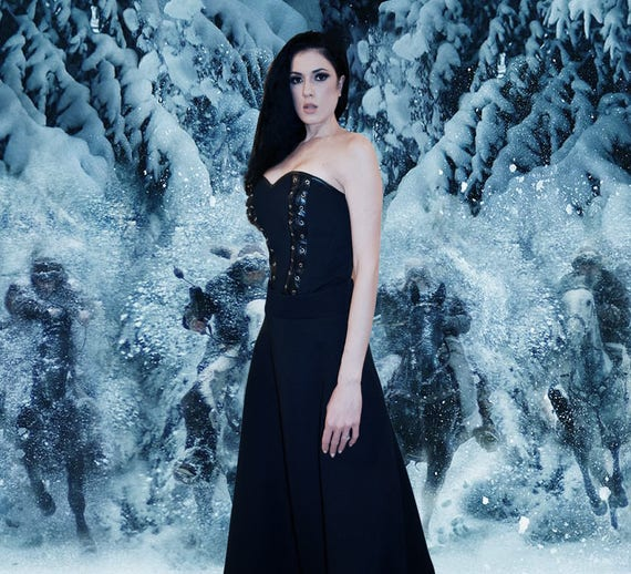 Discount Vintage Celtic Gothic Corset Wedding Dresses With: Celtic Dress/Viking Costume/Viking Dress And Mantle With